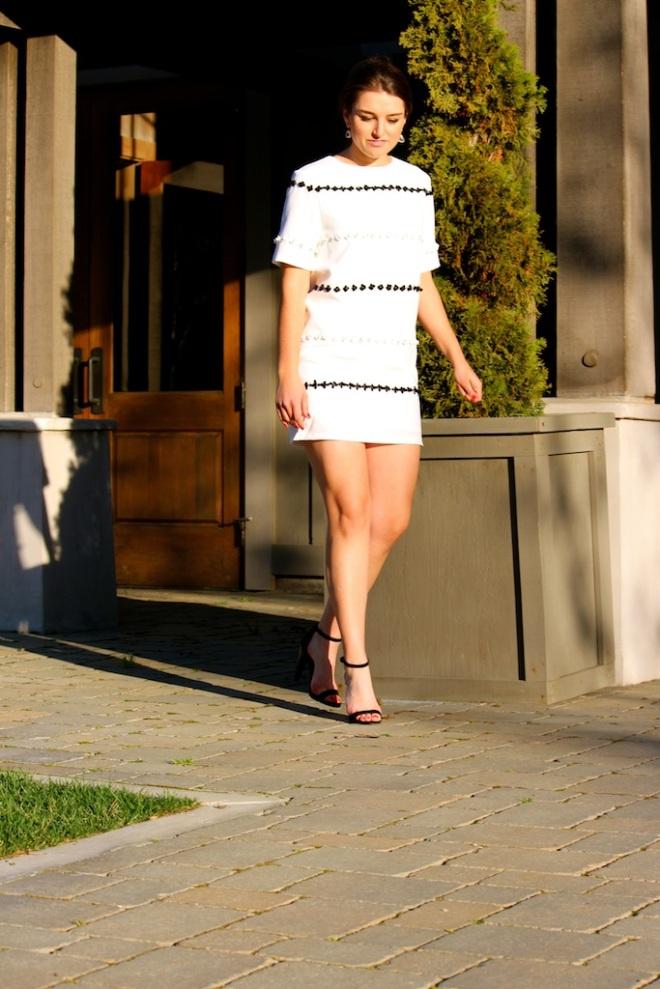 B+W Sequin Flower Dress